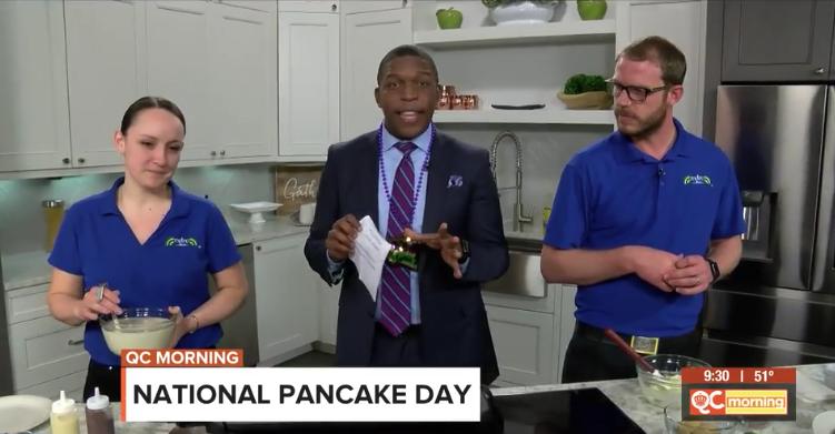 National Pancake Day with QC Morning