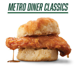 Metro Diner Classics - image of spicy chicken biscuit sandwich
