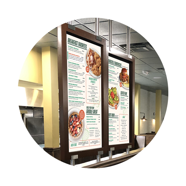 An image of the Metro Diner Express menu boards