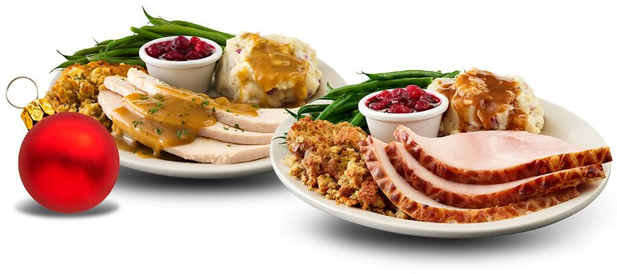 Roasted Turkey & Baked Ham plate