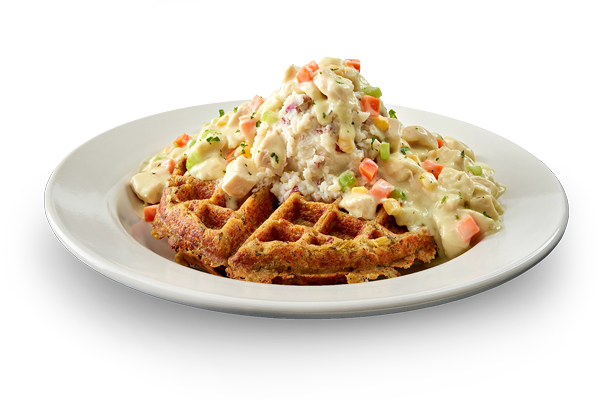 Creamy Chicken & Veggies Waffle