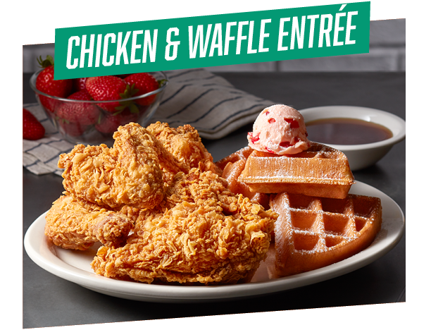 Big Game Chicken & Waffle Entree