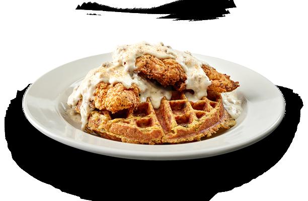 Sausage & Gravy Chicken Tenders Waffle