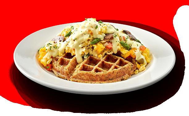 veggie lover stuff n waffle