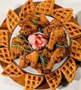 Chicken & Waffles Party Board