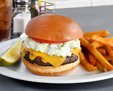 All American Burger with Fries